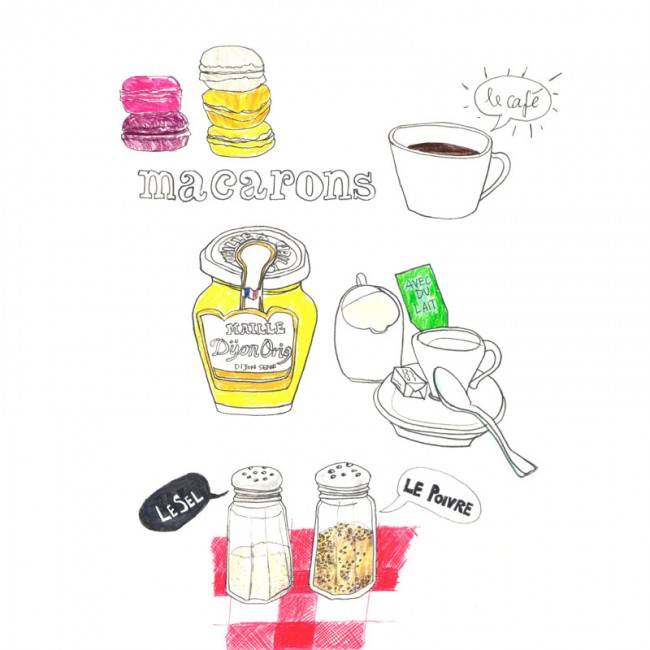 Skizzenbuch »Les macarons«, 2011