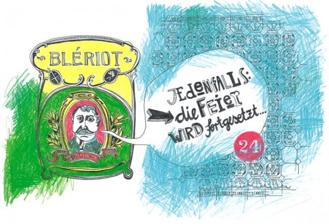 Adventskalenderbuch »Nicht nur zur Weihnachtszeit«, Collection Büchergilde, 2013: »Blériot«