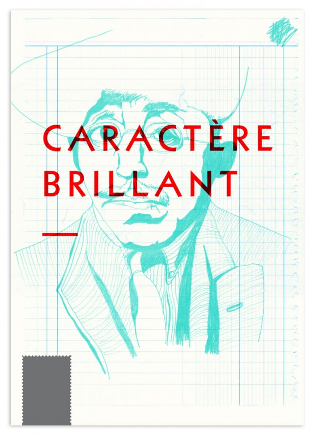 Editorial Design, Magazin in London »Charactère brillant«, 2013: Cover