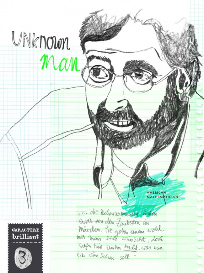 Editorial Design, Magazin in London »Charactère brillant«, 2013: Unknown man