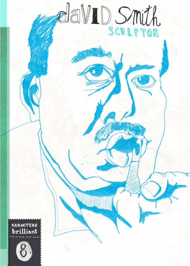 Editorial Design, Magazin in London »Charactère brillant«, 2013: David Smith