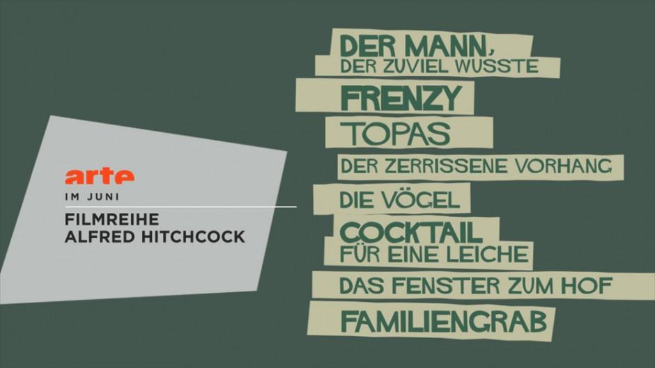 Beste typografische Gestaltung: Arte Hitchcock