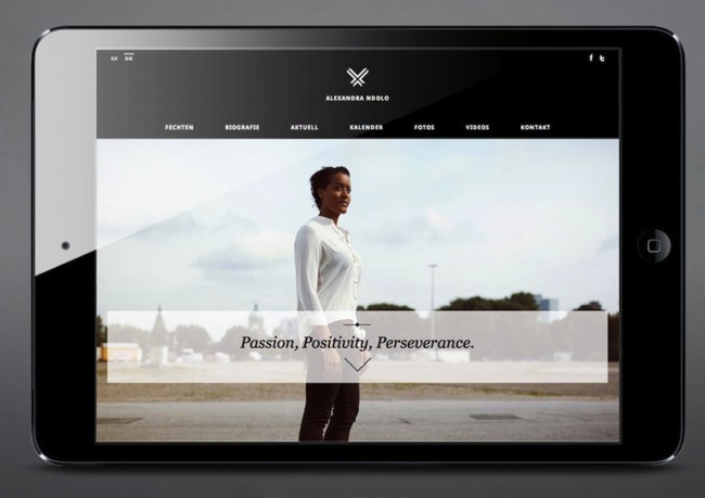 Alexandra Ndolo - Website und Corpoaret Design für Deutschlands neue Fechthoffnung