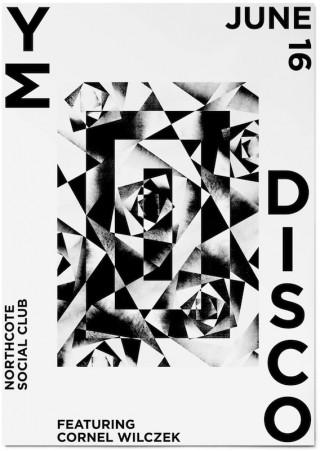 Veranstaltungsplakat für die australische Band My Disco