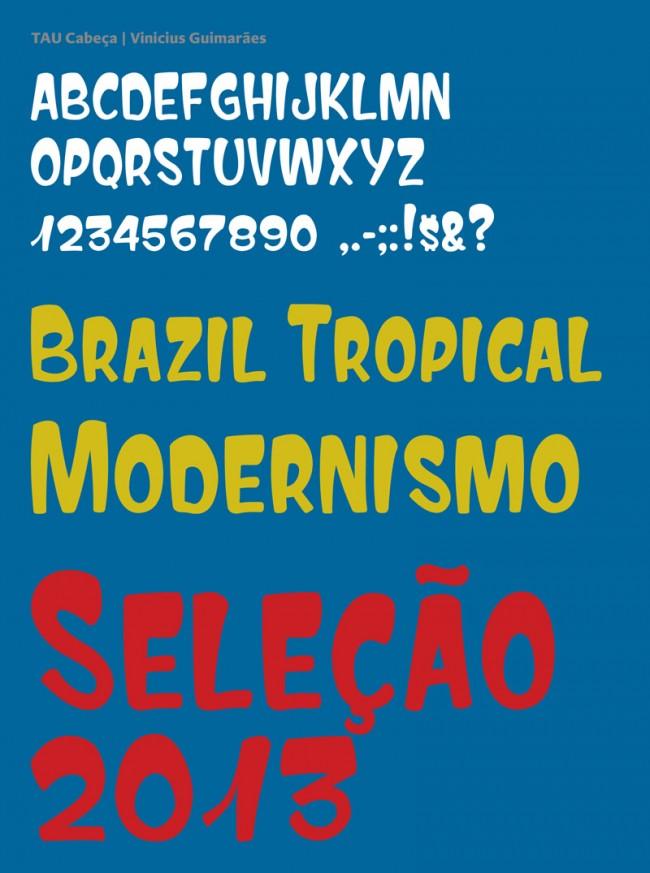 Der junge Typedesigner Vinicius Guimarães aus Rio hat sich ganz dem Thema Vernacular Typography verschrieben. Neben seiner Forschungs- und Sammlungstätigkeit hat er auch eine erste Fontkollektion entwickelt