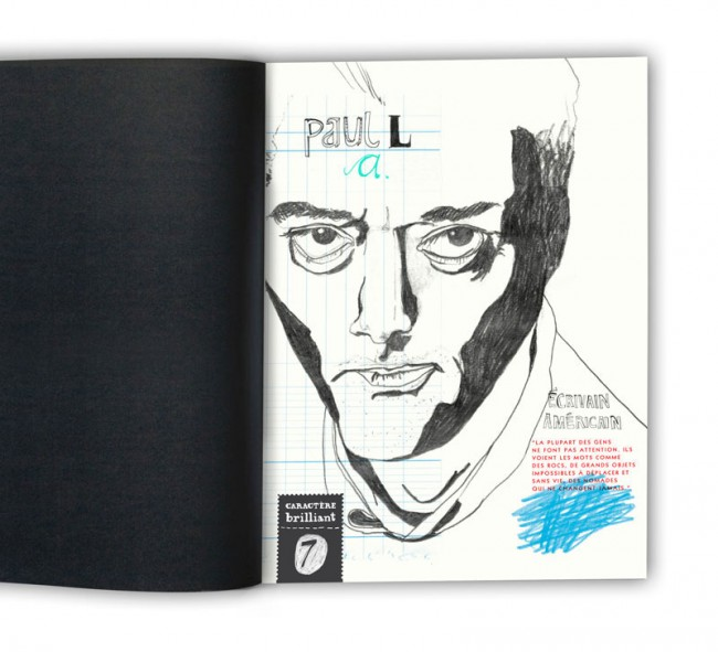 Editorial Design, Magazin in London »Charactère brillant«, 2013: Paul Auster