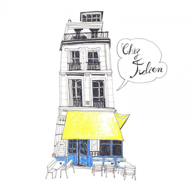 Postkartenmotiv »Chez Julien«, 2011