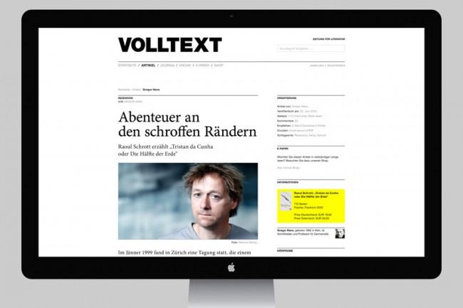 VOLLTEXT – Zeitung für Literatur | Konzeption und Gestaltung eines neuen Erscheinungsbildes für die Literaturzeitschrift »VOLLTEXT – Zeitung für Literatur«