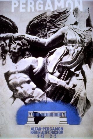 Künstler: Herbert Bayer | Titel: Plakatentwurf »Altar Pergamon« Altes Museum, Berlin | Datierung: 1931 | Material/Technik: Gouache, Tempera, Graphit und Kohle | Bildnachweis: Denver Art Museum, USA