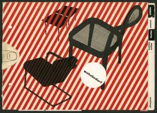 Künstler: Bayer, Herbert | Titel: Möbelkatalog »wohnbedarf« | Datierung: 1933 | Material/Technik: Buchdruck rot und schwarz | Bildnachweis: Bauhaus‐Archiv Berlin