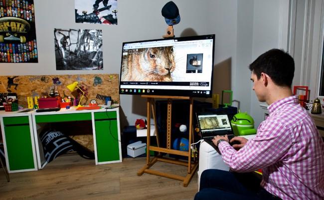 Im Jugendzimmer wurde am Referat über Albercht Dürers »Hasen« gearbeitet