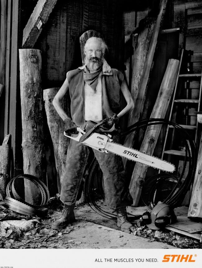 Silber – Publicis Brussels für Stihl Chainsaws, Fotograf Nadav Kander