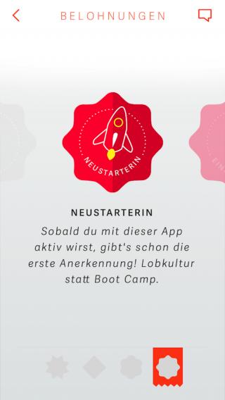 Vital-App: Belohnung