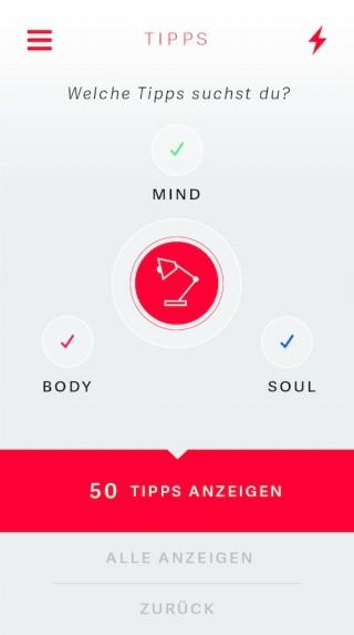 Vital-App: Tipp-Finder