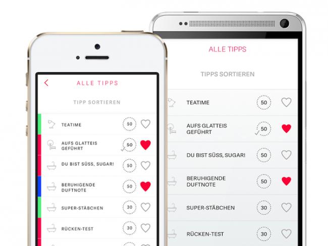 Vital-App: Tipp-Liste