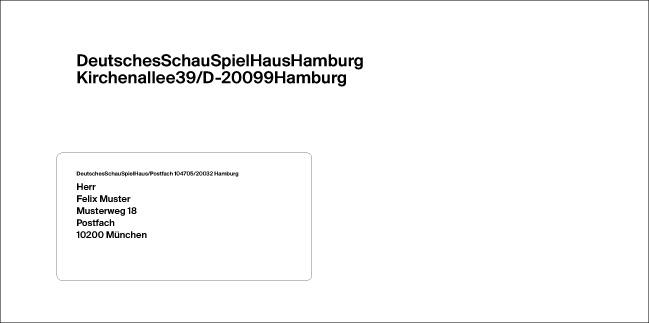 neue ci f r das schauspielhaus hamburg page online. Black Bedroom Furniture Sets. Home Design Ideas