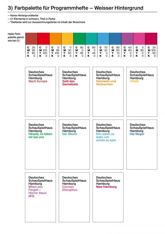Farbpalette Programmhefte