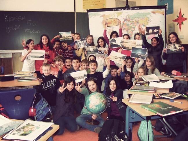 Zur gleichen Zeit in Frankfurt: Die fiktive Reise einer 5. Klasse