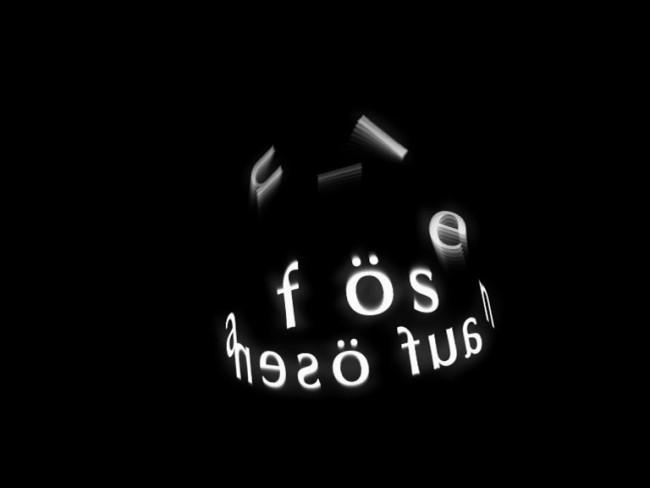 Michael Heß, »Auflösen«, Entstanden im Projekt Typo & Animation, Hochschule Anhalt, FB Design Prof. Angela Zumpe, Deutschland 2004, Animation, Videostill