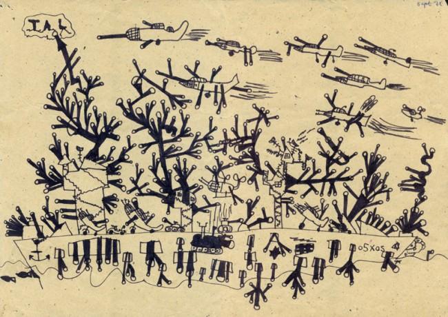 Tal R (*1967), DK, 1975, 8 Jahre, Filzstift auf Papier, 29,7 x 39,5 cm (DIN A3), Courtesy: TAL R / Copyright Paradis