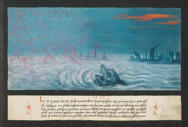1531 – Wal und Erdbeben in Lissabon
