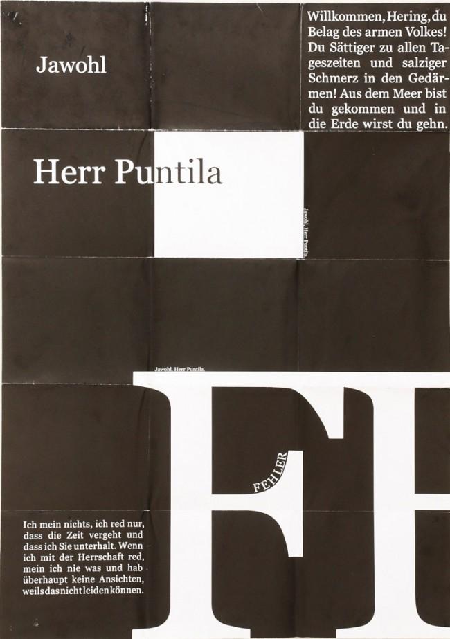 Typografische Interpretation des Theaterstücks »Herr Puntila und sein Knecht Matti«