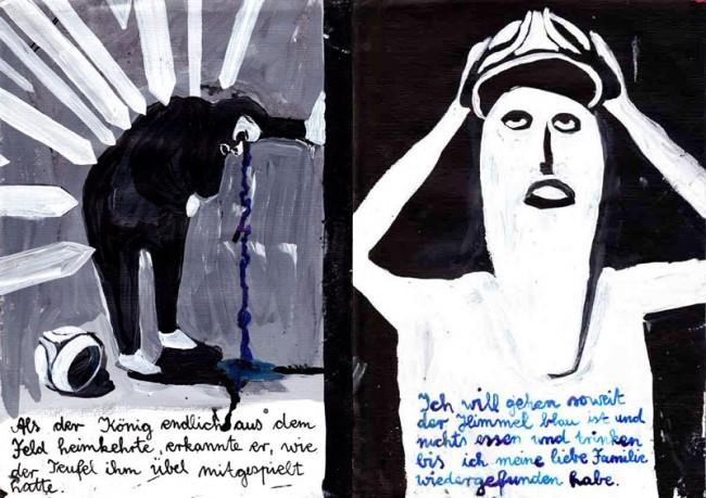 Auszug aus »Das Mädchen ohne Hände«, Doppelseite