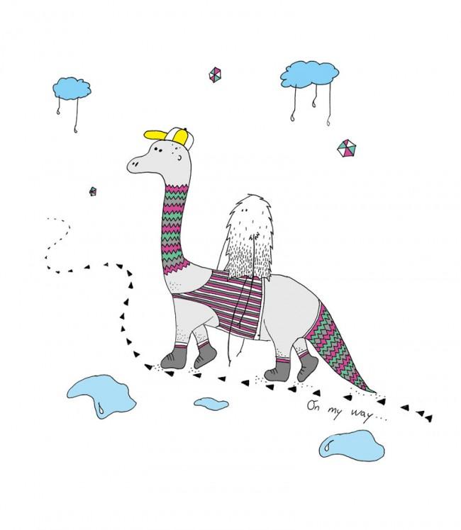 Illustration On My Way