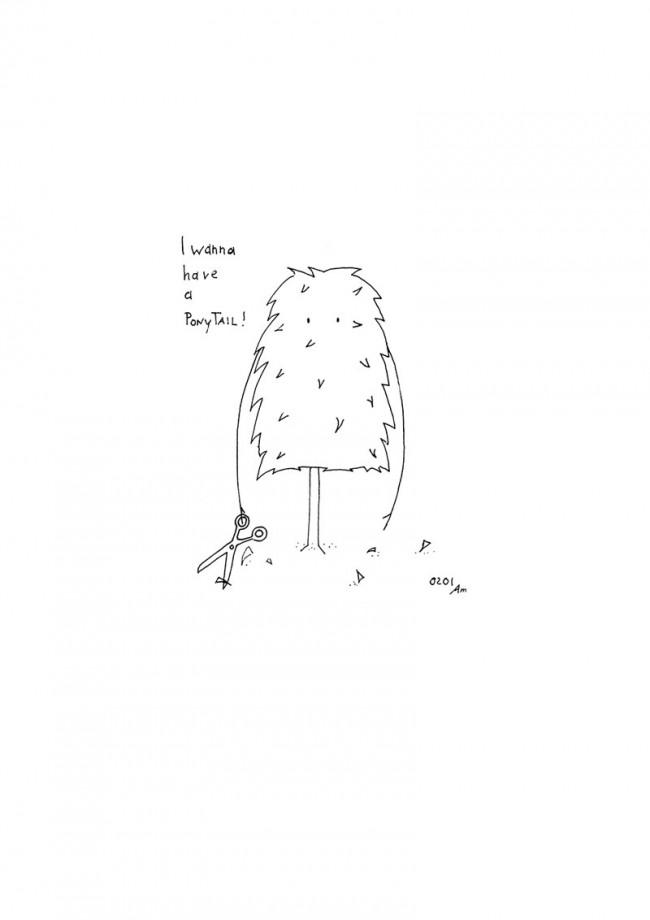 Illustration Ponytail