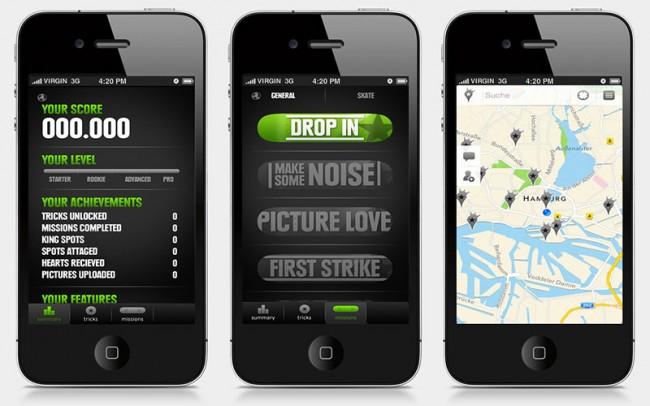 attagme | App für Skateboarder, Design: Thorsten Sievering