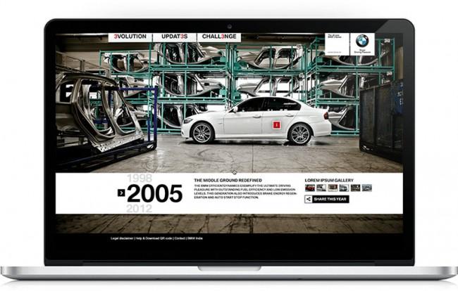 BMW Microsite | Design: Patrick Decaix | Agentur: Liquid Campaign Delhi