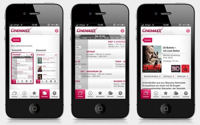 CinemaxX iOS & Android App