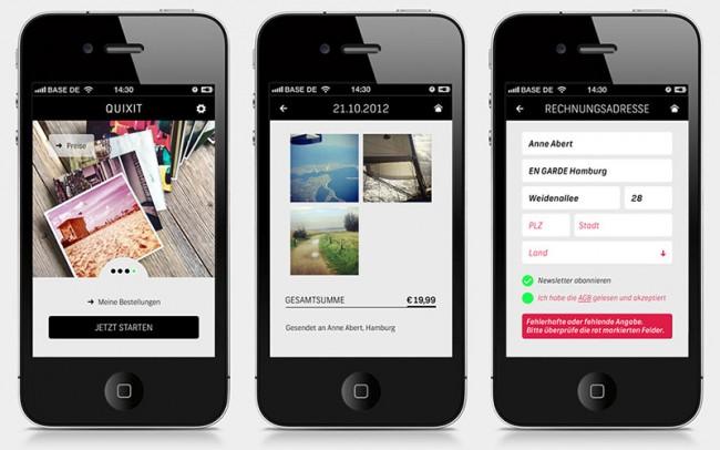 QUIXIT | Mit QUIXIT kann man ganz einfach seine Instagram ähnlichen Photos hochwertig drucken lassen. Design: Anne Abert, EN GARDE Hamburg