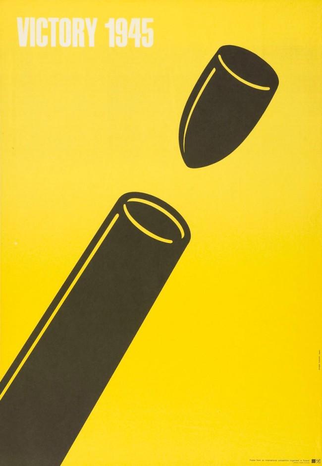 Shigeo Fukuda, Victory 1945, Plakat, 1975, Museum für Gestaltung Zürich, Plakatsammlung