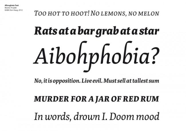 Allonghata Text | Master Projekt, KABK Den Haag, 2012