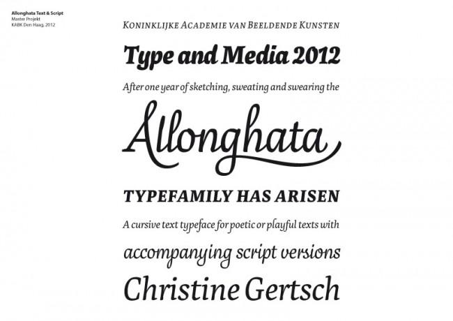 Allonghata Text & Script | Master Projekt, KABK Den Haag, 2012