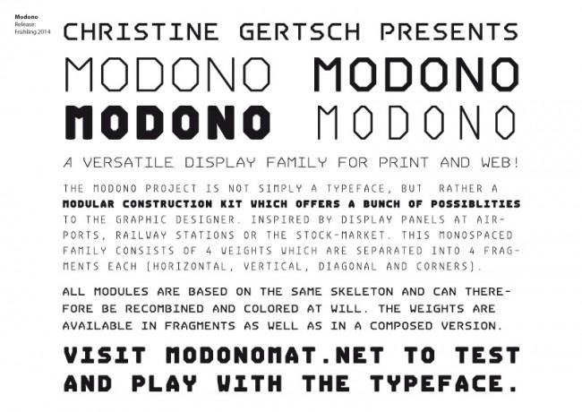 Modono Modular | Release Frühling 2014