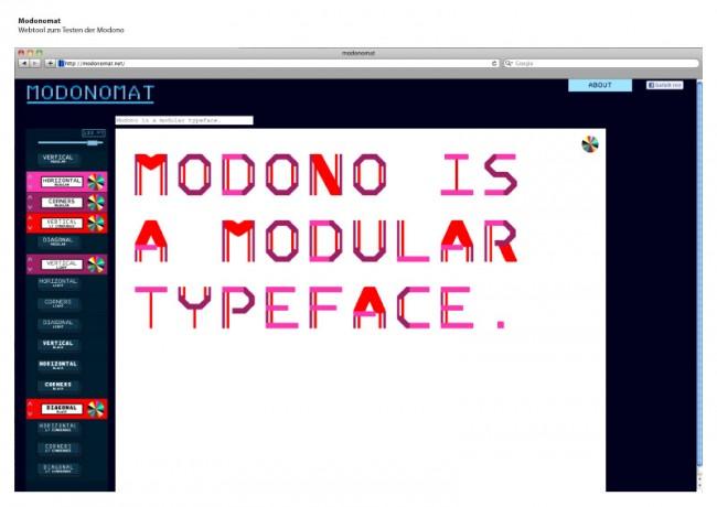 Modonomat | Webtool zum Testen der Modono