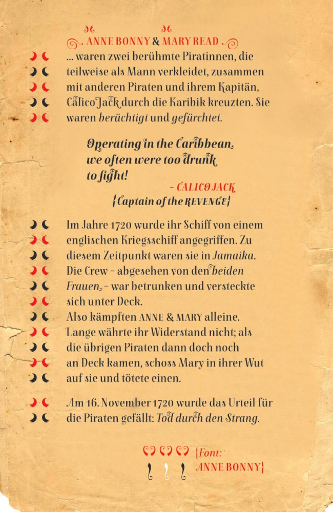 Anne Bonny & Mary Read | Pirate Fonts