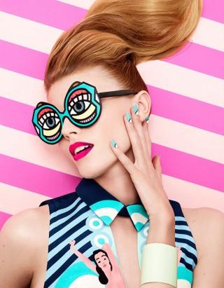 Fotos von Lacey mit 2D-Illu-Elementen von Craig & Karl für »Vogue Nippon«