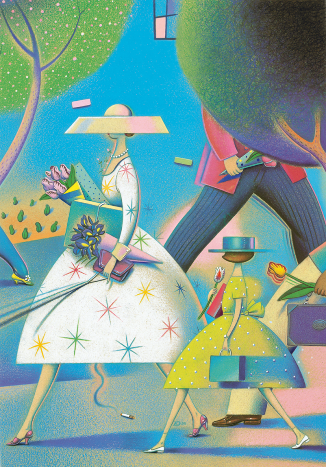 Spring, 2000 | Dave Calver, American Showcase, cover; colored pencil, marker and acrylic