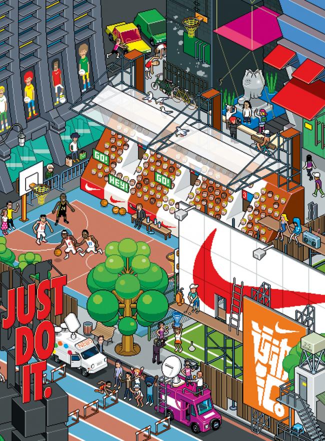MLK-Nike Game Cover, 2012 | eBoy, Milk magazine, Hong Kong; digital