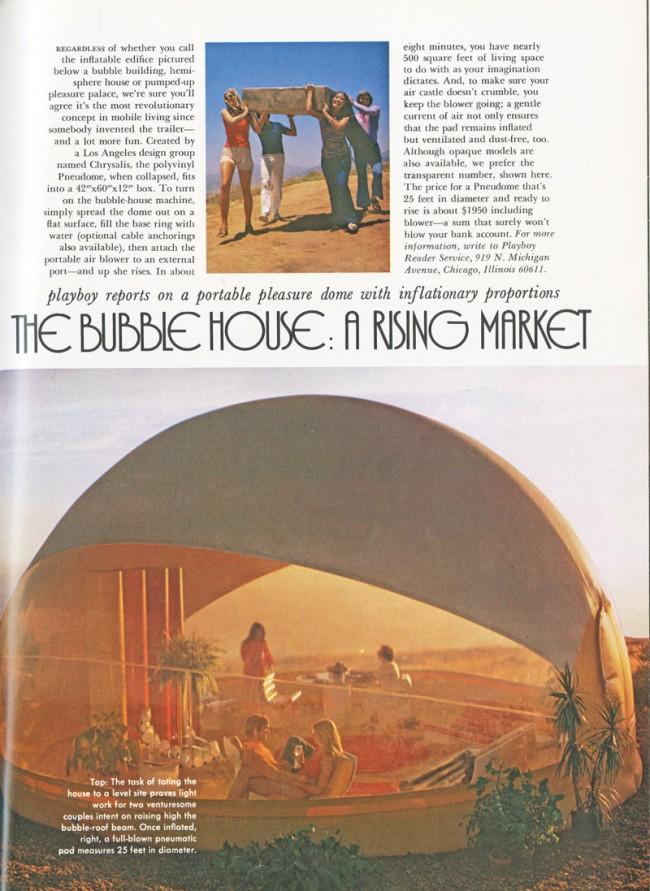 Bubble-House | Architekt: Chrysalis, Aprilausgabe Playboy 1972