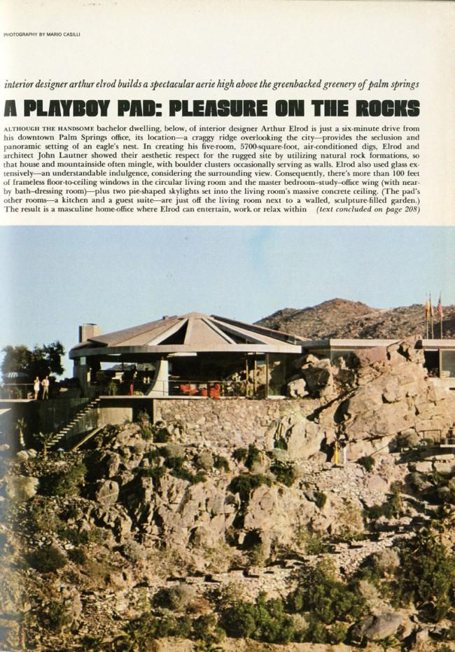 Playboy Pad-Pleasure on the Rocks | Architekt: John Lautner, Playboy, November, 1971, S. 151