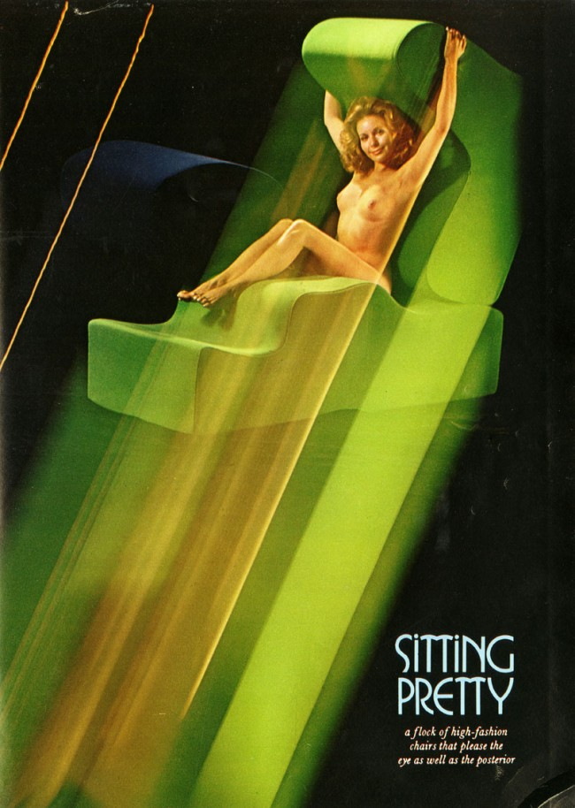 Malitte Chair, Playboy, Februar, 1973, S. 113