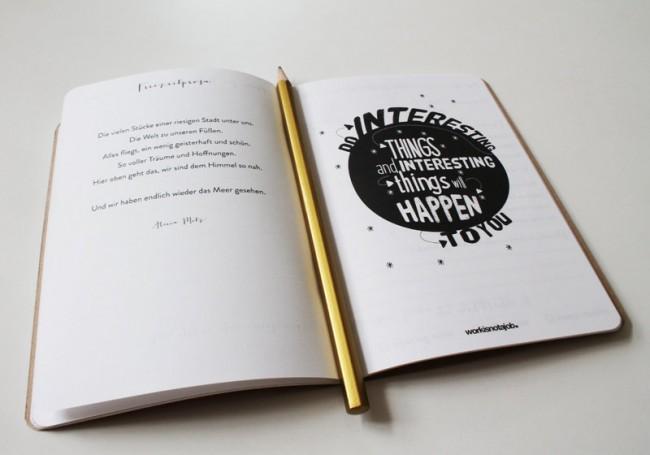Notiz  und skizzenbücher zum selbst gestalten / page online