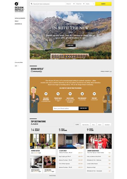 designhotels neue webseite page online. Black Bedroom Furniture Sets. Home Design Ideas