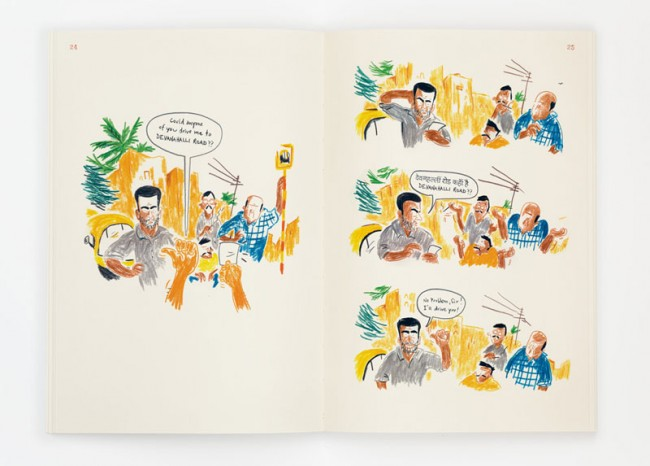 Eine Graphic Journey von Sebastian Lörscher: Making Friends in Bangalore | Edition Büchergilde
