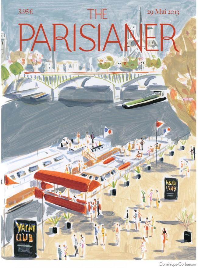 Coverillustration von Dominique Corbasson für das fiktive Magazin »The Parisianer«
