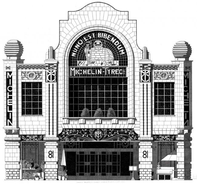 Illustration von Thibaud Herem aus dem Leporello »London Deco«, erschienen bei Nobrow Press